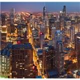 Luxusné vliesové fototapety Chicago - farebné, rozmer 279 x 270cm