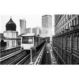 Luxusné vliesové fototapety Kuala Lumpur - čiernobiele, rozmer 418,5 x 270cm