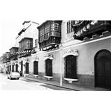 Luxusné vliesové fototapety Lima - čiernobiele, rozmer 418,5 x 270cm