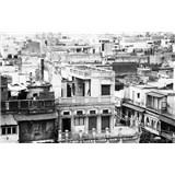 Luxusné vliesové fototapety Delhi - čiernobiele, rozmer 418,5 x 270cm