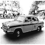 Luxusné vliesové fototapety Delhi - čiernobiele, rozmer 279 x 270cm