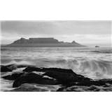Luxusné vliesové fototapety Cape Town - čiernobiele, rozmer 418,5 x 270cm