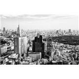 Luxusné vliesové fototapety Tokyo - čiernobiele, rozmer 418,5 x 270cm