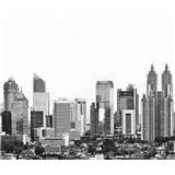 Luxusné vliesové fototapety Jakarta - čiernobiele, rozmer 325,5 x 270cm
