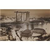 Luxusné vliesové fototapety Singapore - sépia, rozmer 418,5 x 270cm