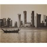 Luxusné vliesové fototapety Doha - sépia, rozmer 325,5 x 270cm
