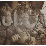 Luxusné vliesové fototapety Delhi - sépia, rozmer 279 x 270cm