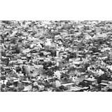Luxusné vliesové fototapety Rajasthan - čiernobiele, rozmer 418,5 x 270cm