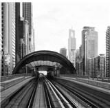 Luxusné vliesové fototapety Dubai - čiernobiele, rozmer 279 cm x 270 cm
