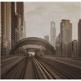 Luxusné vliesové fototapety Dubai - sépia, rozmer 279 cm x 270 cm