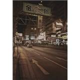 Luxusné vliesové fototapety Tokyo - sépia, rozmer 186 x 270cm