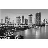Luxusné vliesové fototapety Bangkok - čiernobiele, rozmer 418,5 x 270cm