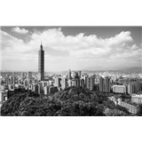 Luxusné vliesové fototapety Taipei - čiernobiele, rozmer 418,5 x 270cm