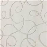 Vliesové tapety na stenu Collection 2 strieborné vlnky s bielymi konturami na bielom podklade