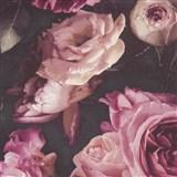 Vinylové tapety na stenu Opus kvetinová kompozícia ružová na tmavom pozadí