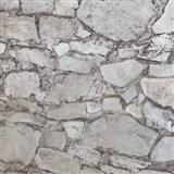Vliesové tapety na stenu Einfach Schoner 3 kameň skladaný hnedý