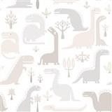 Vliesové tapety na stenu dinosaurus hnedo-sivý