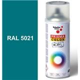 Sprej modrý lesklý 400ml, odtieň RAL 5021 farba vodná modrá lesklá