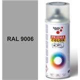 Sprej sivá lesklý 400ml, odtieň RAL 9006 farba biela hliníková lesklá