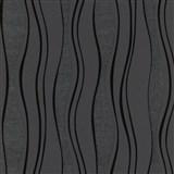 Vliesové tapety na stenu vlnovky čierne