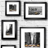 Papierové tapety New York obrazy na bielej tehlovej stene