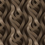 Vinylové tapety Kinetic 3D abstrakt hnedý