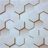 Vliesové tapety Kinetic 3D plástev svetlo hnedá