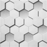 Vliesové tapety Kinetic 3D plástev sivá