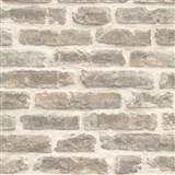 Vliesové tapety na stenu Roll in Stones kamenná múr svetlo hnedá