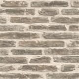 Vliesové tapety na stenu Roll in Stones kamenná múr béžová