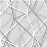 Vliesové tapety na stenu IMPOL Galactik 3D hrany sivo-strieborné na sivom podklade