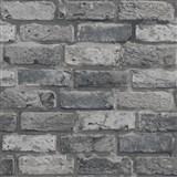 Papierové tapety na stenu IMPOL tehla sivá