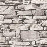 Vliesové tapety na stenu Roll in Stones štiepaný kameň sivý - POSLEDNÉ KUSY