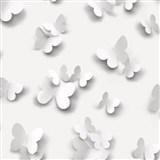 Vinylové tapety na stenu Just Like It 3D motýle sivé