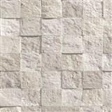 Vliesové tapety na stenu Roll in Stones kamenná mozaika hnedá s leskom