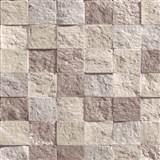 Vliesové tapety na stenu Roll in Stones mozaika kamenná hnedo-ružová