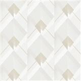 Vliesové tapety na stenu IMPOL Galactik Art-Deco bielo-niklové