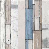 Vliesové tapety na stenu Virtual Vision drevené doštičky modré