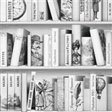 Vliesové tapety na stenu Virtual Vision knižnica sivo-biela