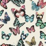 Vliesové tapety na stenu Virtual Vision motýle ružové