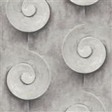 Vliesové tapety na stenu Virtual Vision 3D špirály sivé