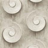 Vliesové tapety na stenu Virtual Vision 3D špirály tmavo hnedé