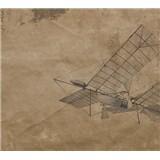 Luxusné vliesové fototapety lietadlo BEZ TEXTU 300 x 270cm
