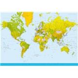 Fototapety Map of the World, rozmer 366 x 254 cm - POSLEDNÉ KUSY