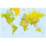 Fototapety Giant Art Map of the World, rozmer 175 x 115 cm - POSLEDNÉ KUSY