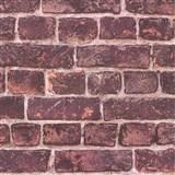 Vliesové tapety IMPOL Wood and Stone 2 tehly bordovo červené