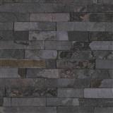 Vliesové tapety IMPOL Wood and Stone 2 obkladový kameň štiepaná bridlica sivo-čierna