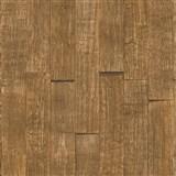 Vliesové tapety IMPOL Wood and Stone 2 3D drevený obklad hnedý