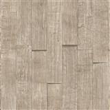 Vliesové tapety IMPOL Wood and Stone 2 3D drevený obklad svetlo hnedý