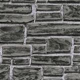 Vliesové tapety IMPOL Wood and Stone 2 tehla čierno-sivá